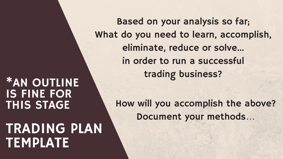trading plan outline
