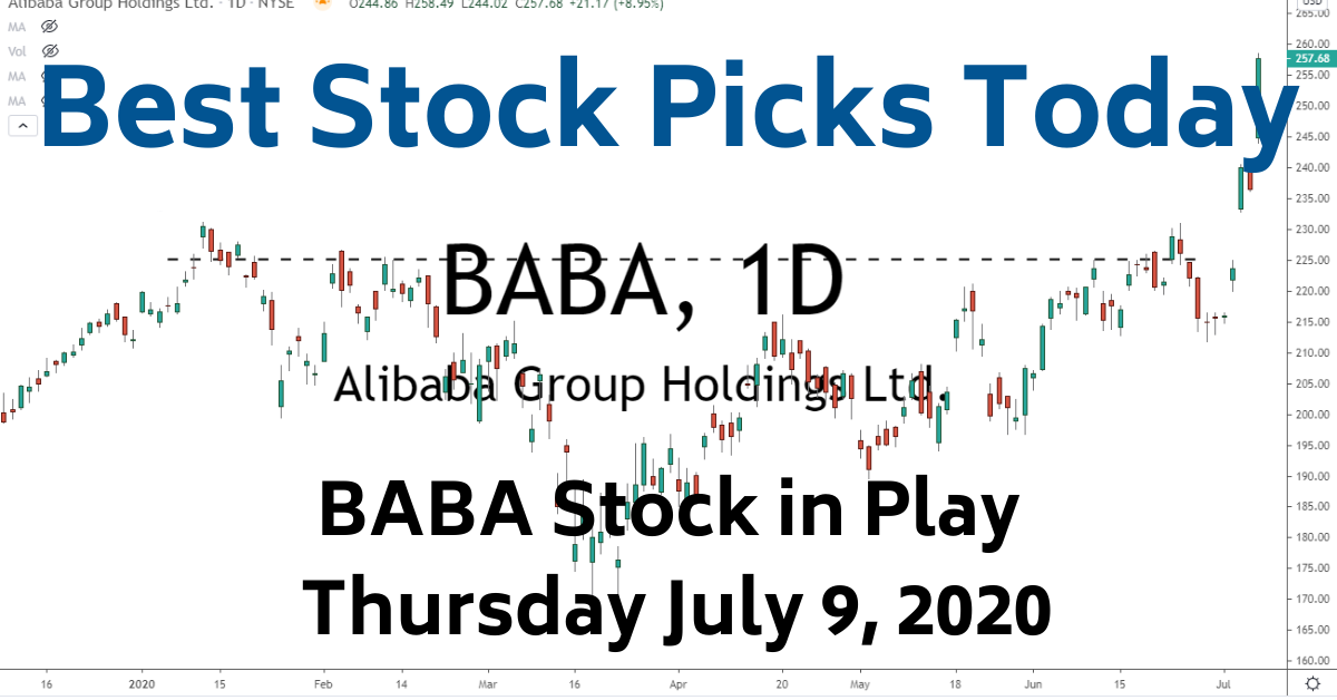 Best Stock Picks Today BABA Stock 7-9-20