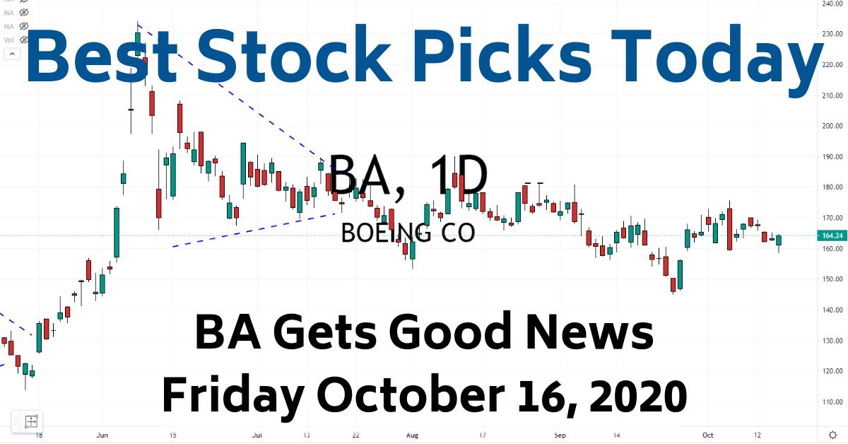 Best Stock Picks Today BA Trade 10-16-20