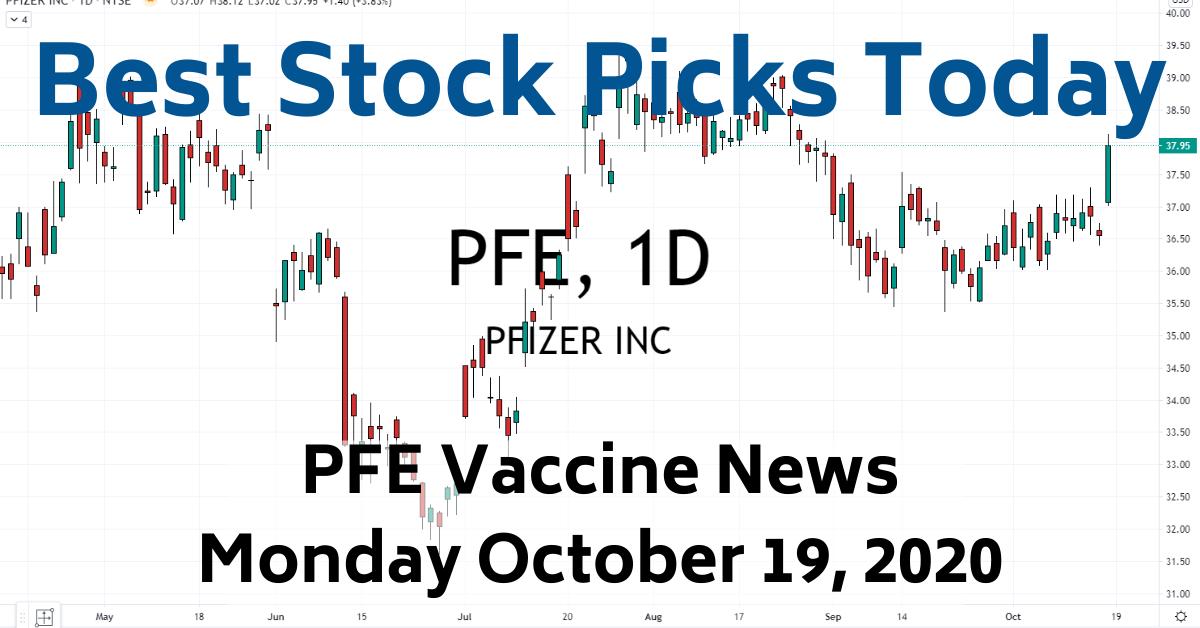 Best Stock Picks Today PFE Vaccine News 10-19-20