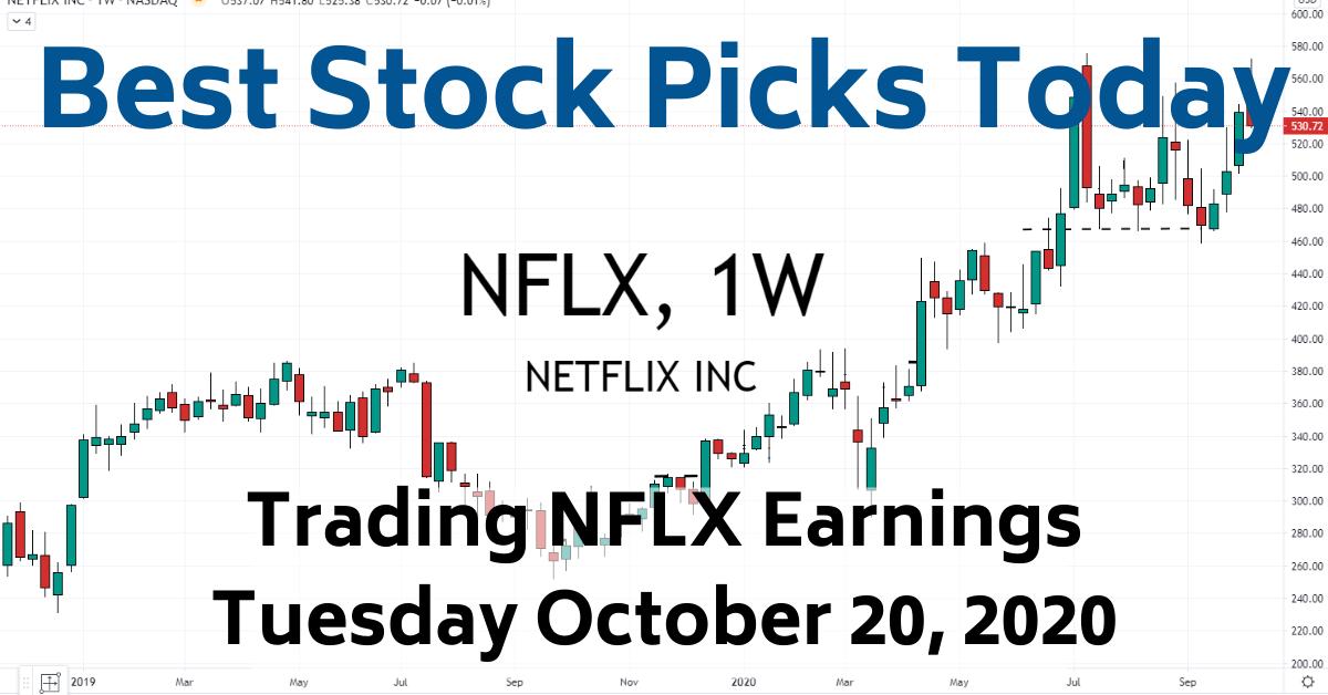 Trading NFLX Earnings Best Stock Picks Today 10-20-20