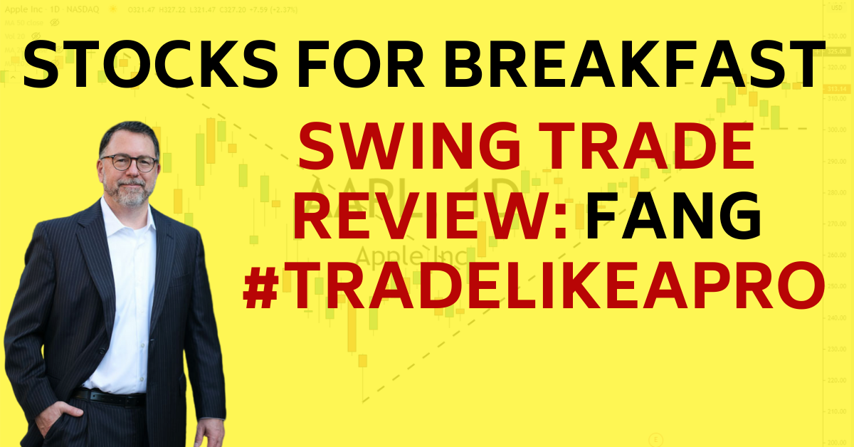 Stocks for Breakfast Swing Trade Review FANG